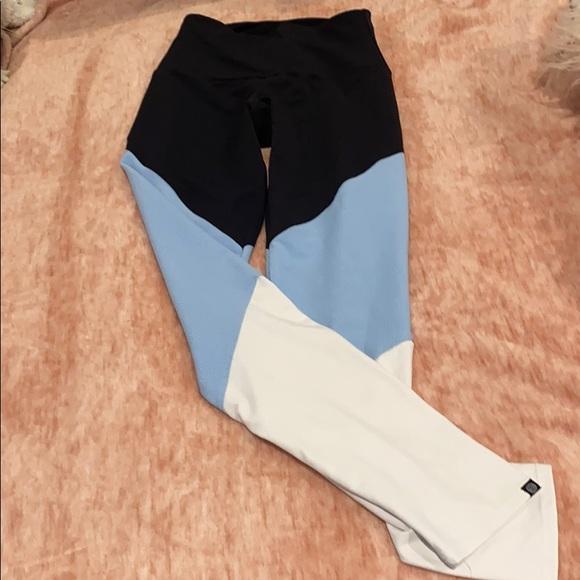 onzie high rise full length leggings color block